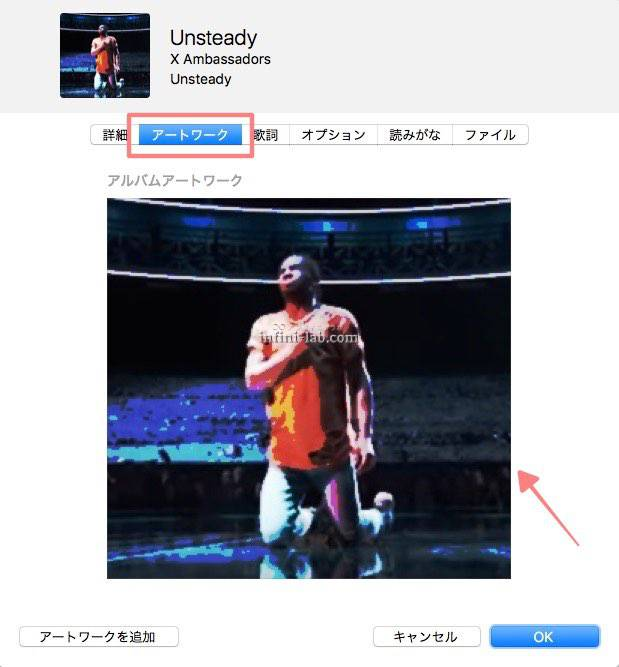 iTunes アートワークの設定2
