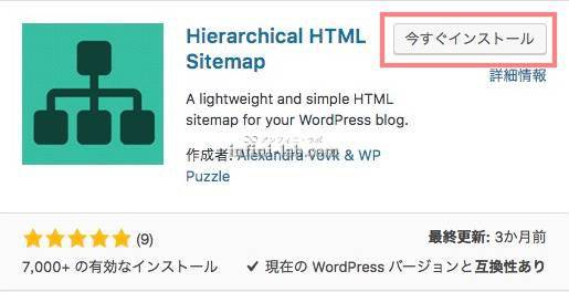 Hierarchical HTML Sitemap のインストール