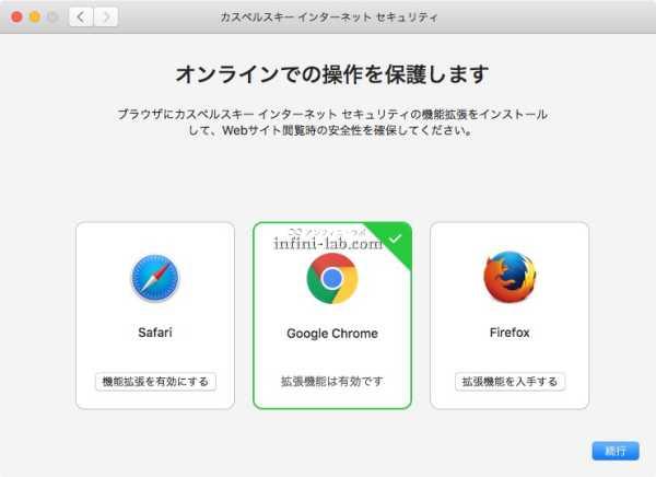 Google Chrome の拡張機能が有効化された