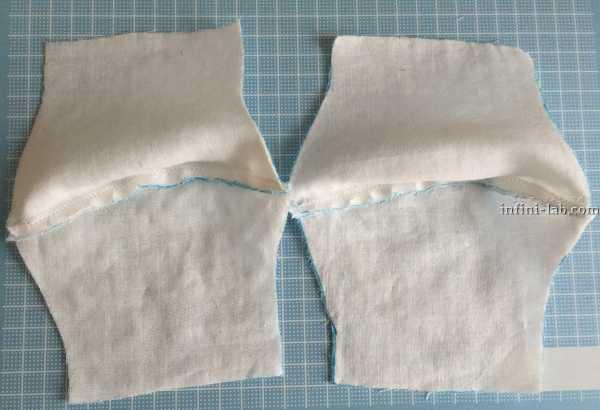 立体型マスクの作り方 表地と裏地を合わせて縫う