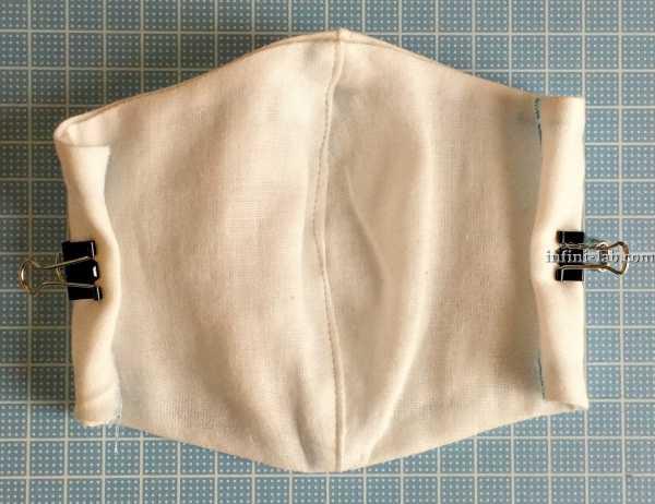 立体型マスクの作り方 両端を縫う
